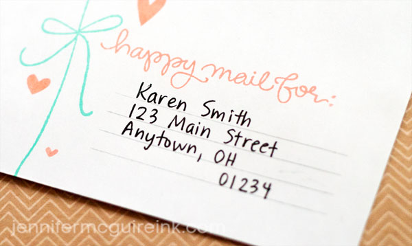 Decorate Your Envelopes - Jennifer McGuire Ink