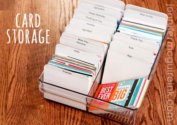 Handmade Card Storage Jennifer Mcguire Ink