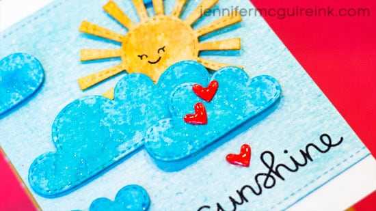 Watercolor Die Cuts Video by Jennifer McGuire Ink