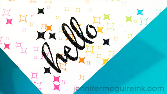 Glitter and Stamping Video by Jennifer McGuire Ink