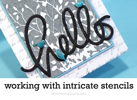 Intricate Stencils Video by Jennifer McGuire Ink