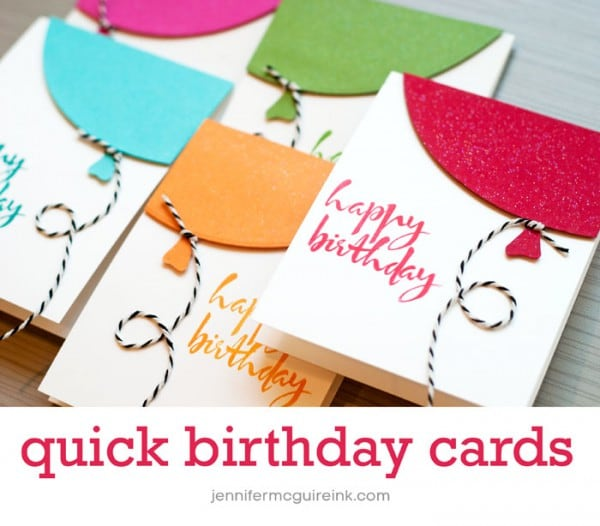 Video: Quick Balloon Cards + Cool New Product + BIG