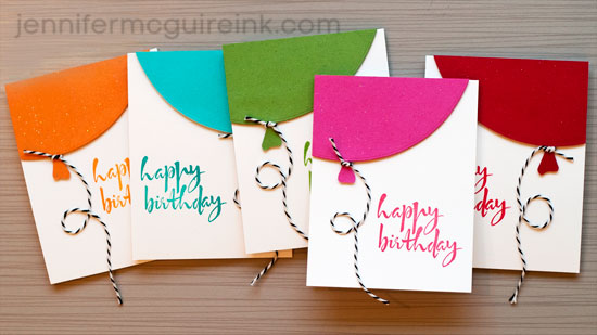 video quick balloon cards  cool new product  big giveaway, Birthday card