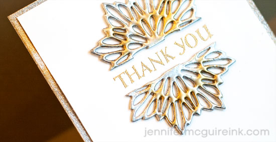 Faux Metal Embellishments Video by Jennifer McGuire Ink