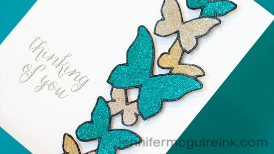 Glitter Die Cuts Video by Jennifer McGuire Ink