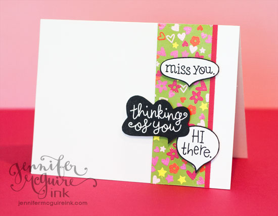DIY Patterned Paper Video by Jennifer McGuire Ink