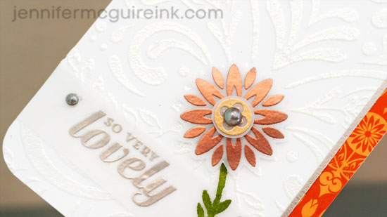 Embossing Paste + Powder Video by Jennifer McGuire Ink