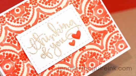 Inking Embossing Folders Video by Jennifer McGuire Ink