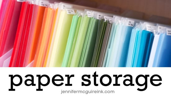 Paper Storage Video by Jennifer McGuire Ink