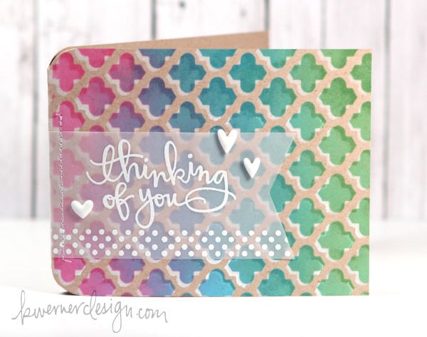 Guest Post & Video: Layered White + Colored Ink on Kraft Revisited with Kristina