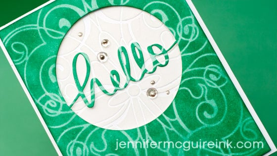Die Cut Window Card Video by Jennifer McGuire Ink