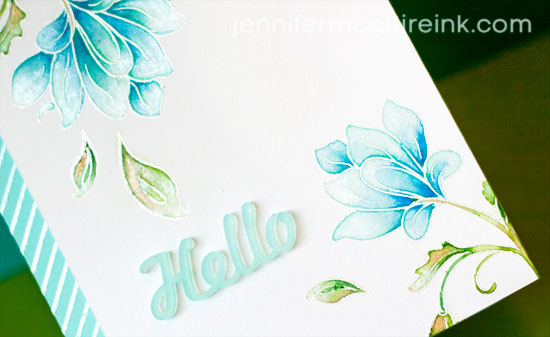 Watercolor and Stamping Video by Jennifer McGuire Ink