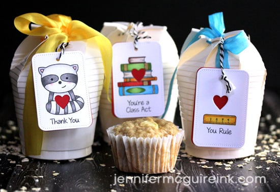 Cupcake Gift Box by Jennifer McGuire Ink