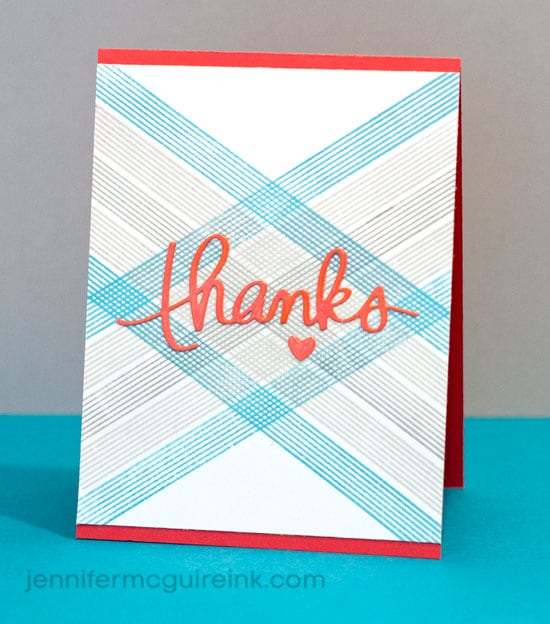 Plaid Stamping Video by Jennifer McGuire Ink