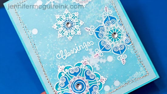Colored Vellum Shaker Card Video by Jennifer McGuire Ink