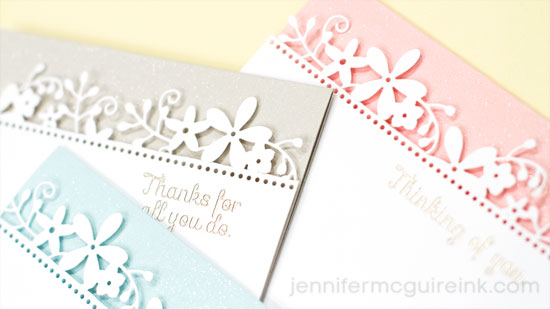 Partial Die Cut Border Video by Jennifer McGuire Ink