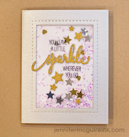 No Bulk Shaker Card Video by Jennifer McGuire Ink