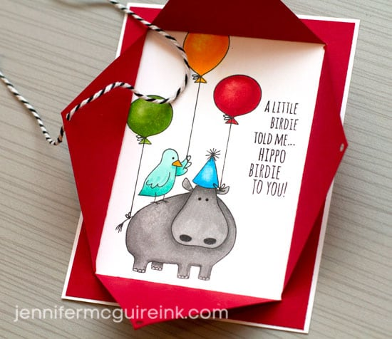 Birthday Surprise Card Video by Jennifer McGuire Ink