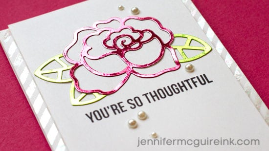 Foil Die Cuts Video by Jennifer McGuire Ink