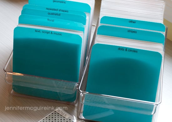 Background Stamp Storage Video by Jennifer McGuire Ink