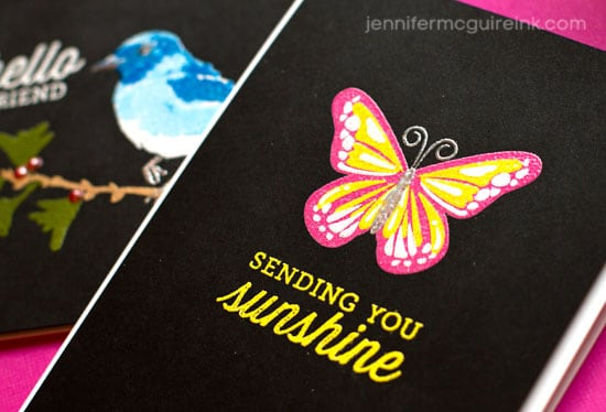 Layered Heat Embossing Video by Jennifer McGuire Ink