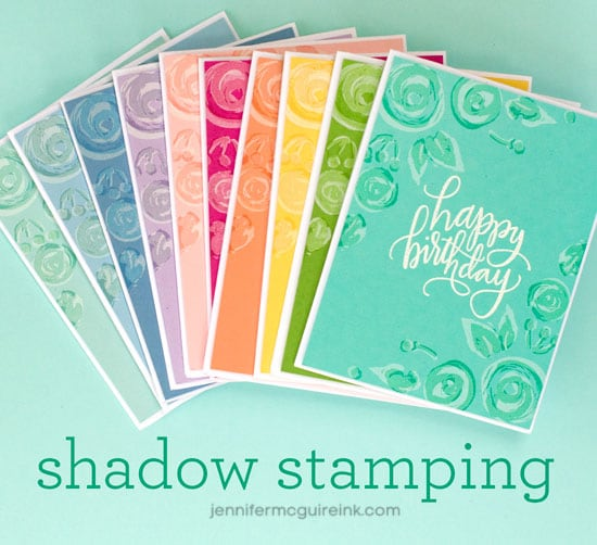 Video: Shadow Stamping + Blog Hop + Giveaway