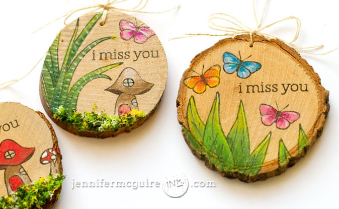 Stamping on Wood Video by Jennifer McGuire Ink