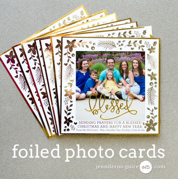 Foiled Photo Cards Video by Jennifer McGuire Ink