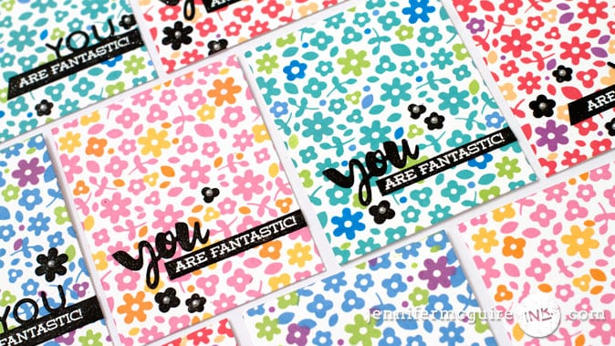 Stamping With Foam Video by Jennifer McGuire Ink