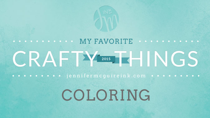 My Favorite Crafty Things Coloring Jennifer McGuire Ink