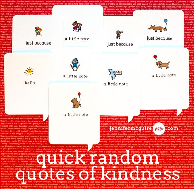Random Quotes of Kindness Video by Jennifer McGuire Ink