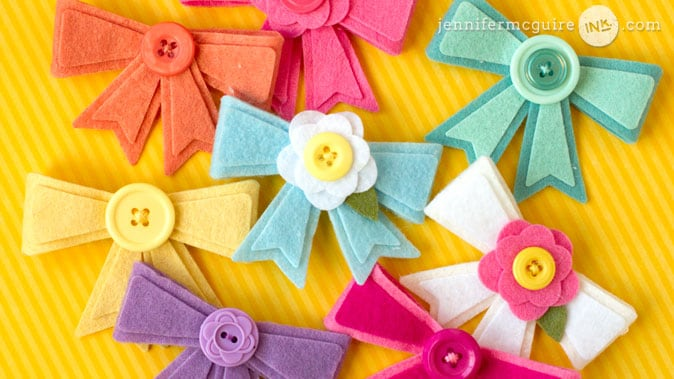 Die Cut Felt Bows Video by Jennifer McGuire Ink