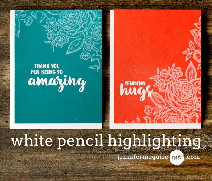 White Pencil Highlighting Video by Jennifer McGuire Ink