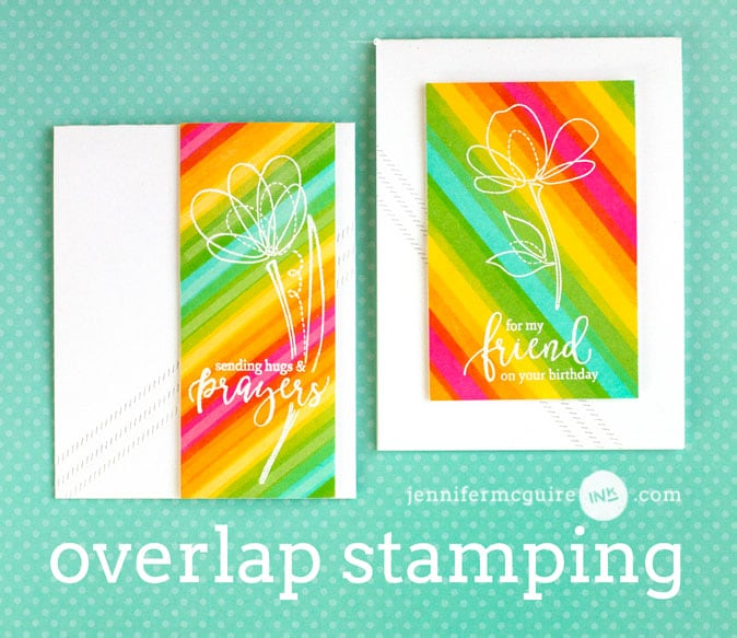 Overlap Stamping Video by Jennifer McGuire Ink