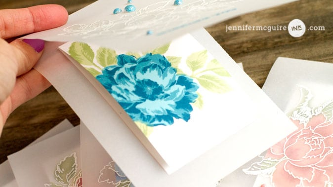 Vellum Overlay Cards Video by Jennifer McGuire Ink