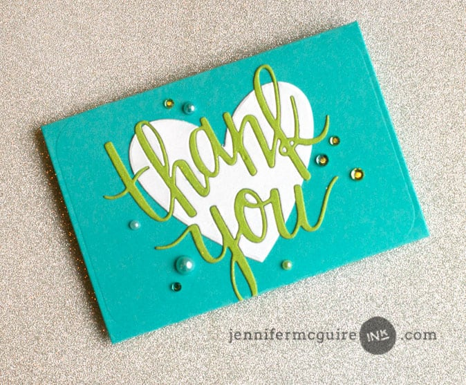Gift Card Holder by Jennifer McGuire Ink