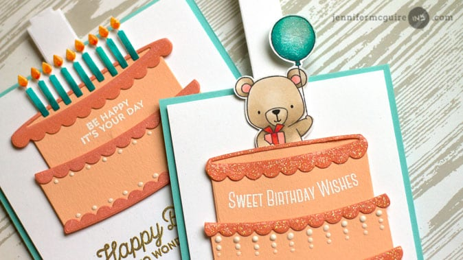 Surprise Slider Cards by Jennifer McGuire Ink