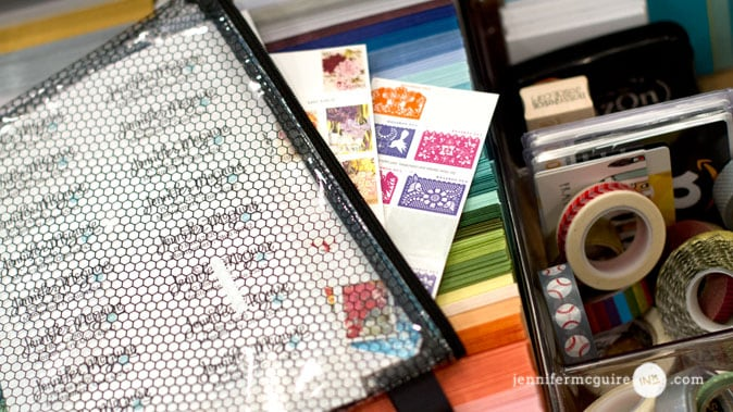 Handmade Card Organization Video by Jennifer McGuire Ink