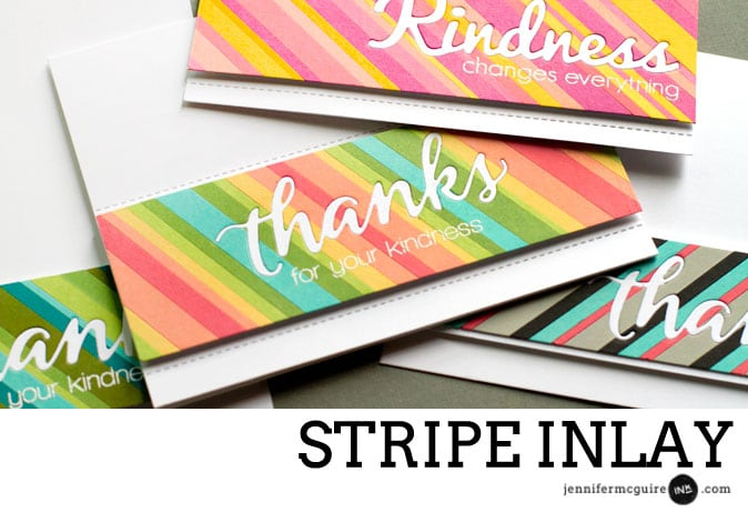Stripe Inlay by Jennifer McGuire Ink