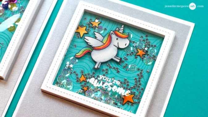 Shaker Card Video by Jennifer McGuire Ink