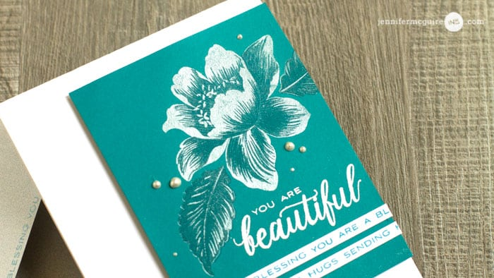 Pearlized Stamp Layering by Jennifer McGuire Ink