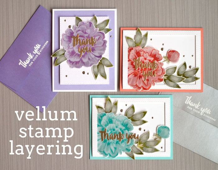Vellum Stamp Layering by Jennifer McGuire Ink