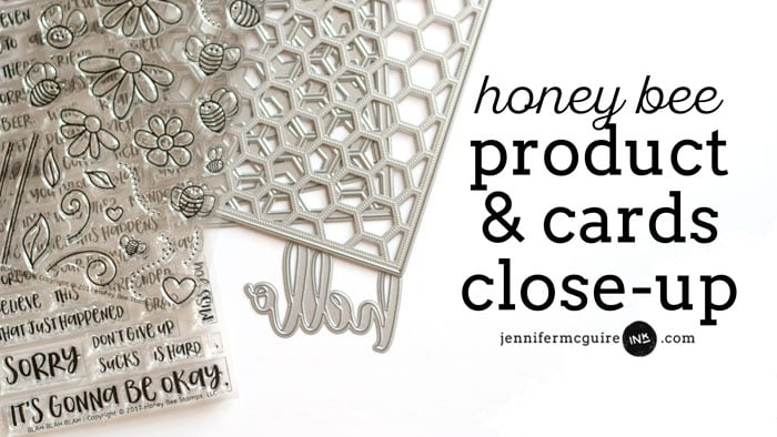 Honey Bee Product and Cards Close-Up Video Jennifer McGuire Ink