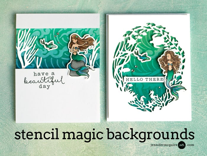 Magic Stencil Techniques Video by Jennifer McGuire Ink