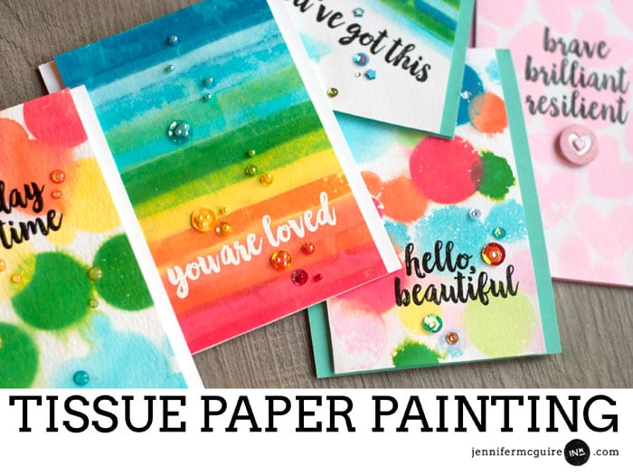 Tissue Paper Watercolor Video by Jennifer McGuire Ink