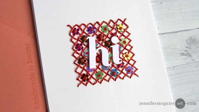 Stitched Cards + GIVEAWAY - Jennifer McGuire Ink