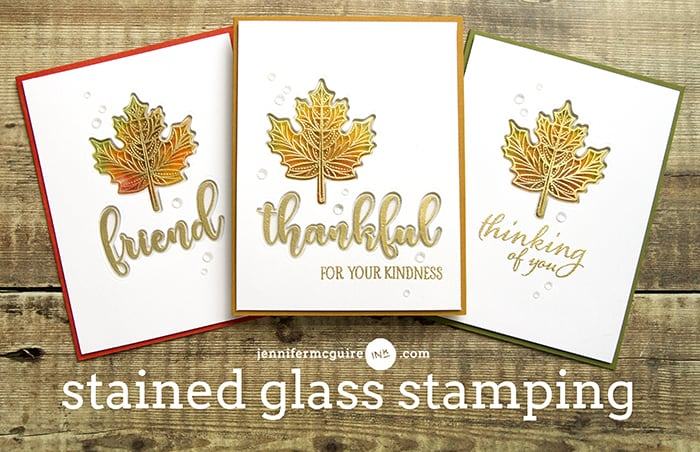 Stained Glass Stamping Video by Jennifer McGuire Ink