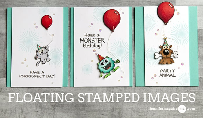 Floating Stamped Images Video by Jennifer McGuire Ink