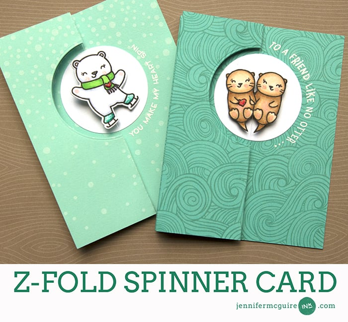 Z Fold Spinner Card by Jennifer McGuire Ink