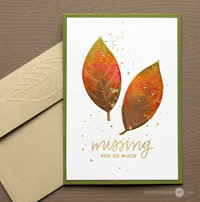 Embossed Impressions Video by Jennifer McGuire Ink